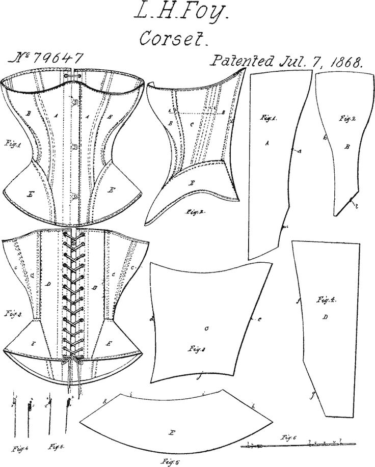 L.H. Foy 1868 corset pattern... I need to make a new corset, my old one is too…