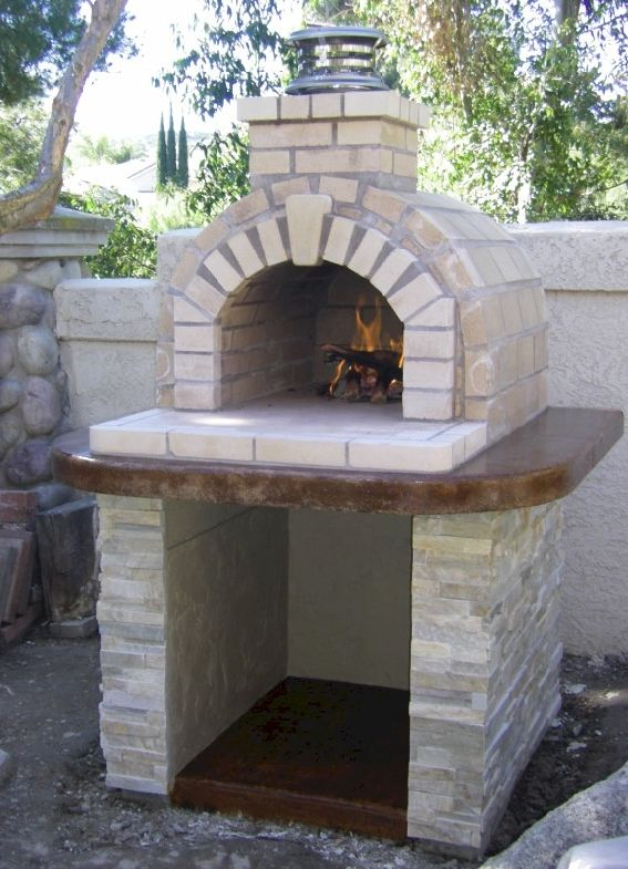 One of the most popular DIY Wood Fired Ovens on the internet... This Tan  Fire Brick oven was built using the Mattone Bari…   Wood-Fire Brick/Pizza  Oven ... - One Of The Most Popular DIY Wood Fired Ovens On The Internet... This