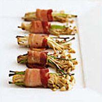 Bacon-Wrapped Enoki - Mushroom Recipes - Hors d'oeuvres Recipes - Delish.com