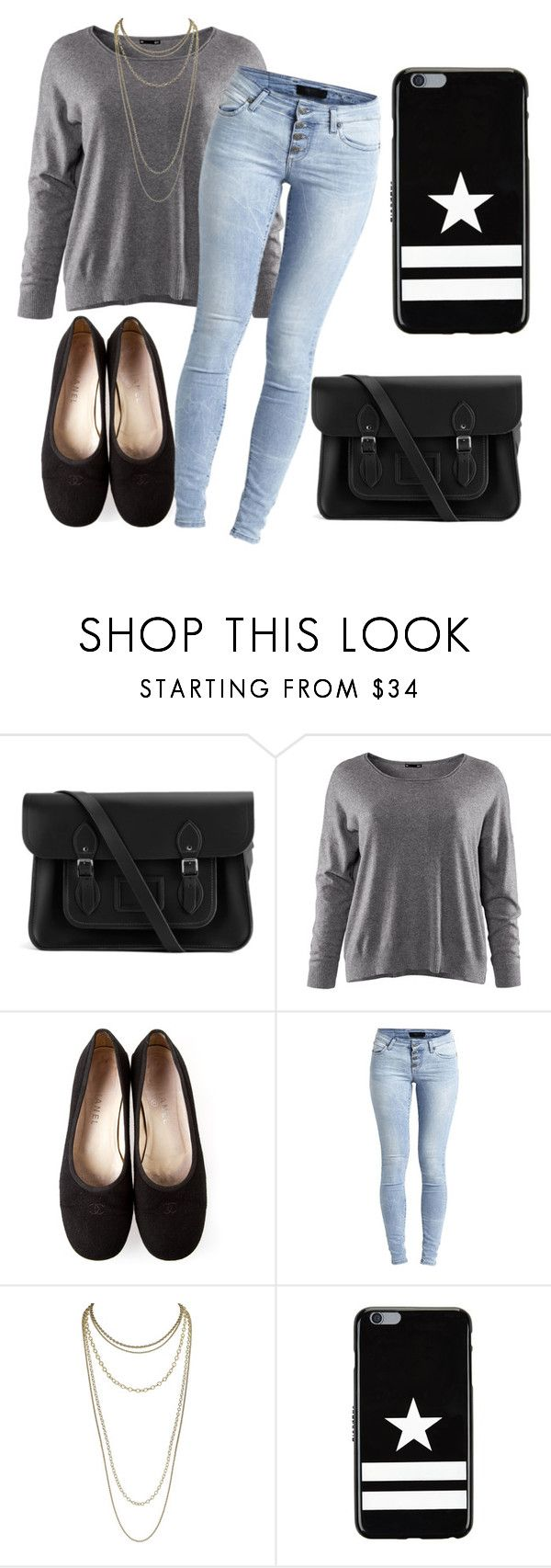"""My First Set - Weekend Shopping"" by fiona137 ❤ liked on Polyvore featuring The Cambridge Satchel Company, H&M, Chanel, Object Collectors Item, Scott Kay, Givenchy and casual"