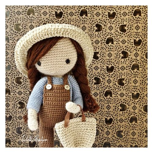 very cute crochet doll