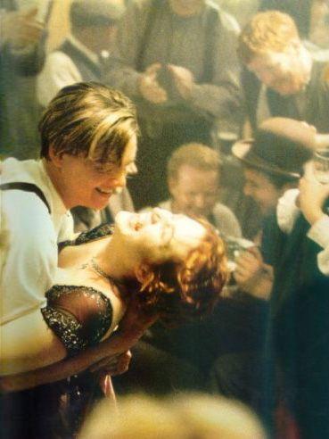 Titanic- 1997, Leonardo Dicaprio and Kate Winslet ♥ my favorite scene.