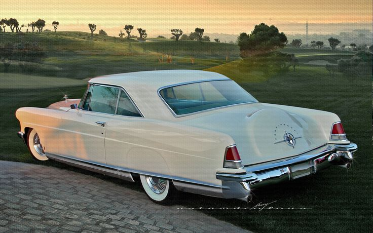 1956 Continental MKII, beige in color. Built by the Continental Car division of FMC, which was a separate division from Lincoln Motorcar division during model years 1956 and 1957.