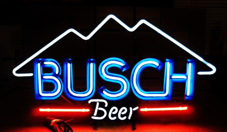 Busch Beer Neon Bar Sign Circa 1981 Breweriana