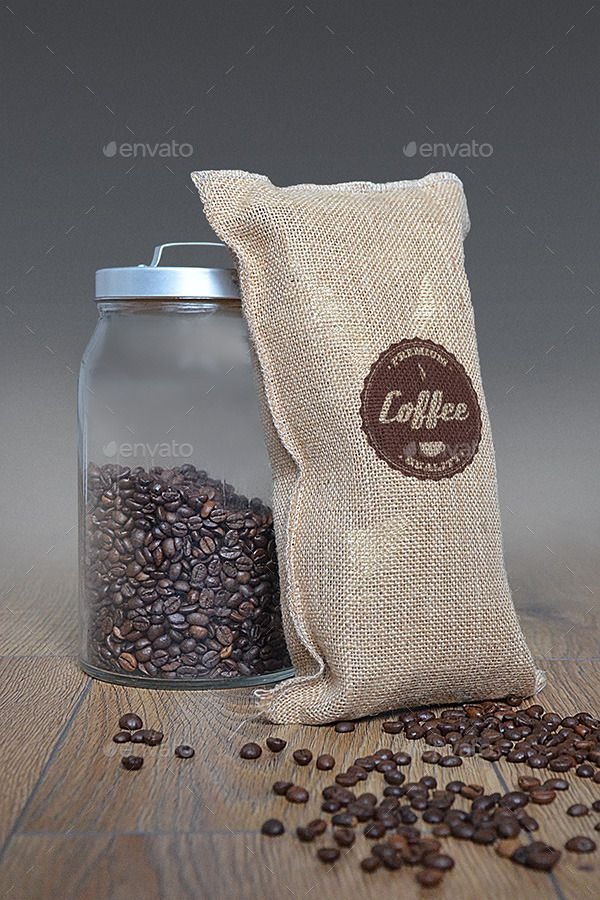 Download Jute Coffee Bag Logo Mockup Logo Mockup Bags Logo Jute