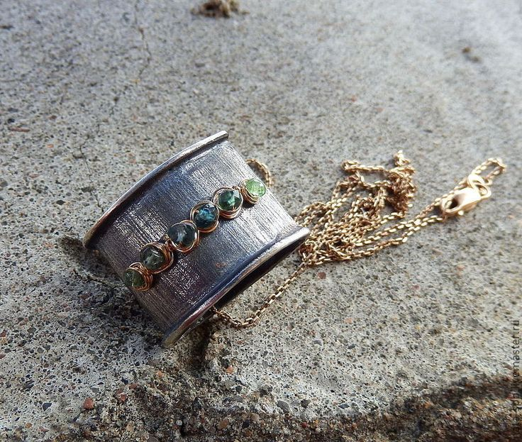 Купить ТЫ И Я кулон-перевертыш (серебро 925, золото,натур.камни) - кулон