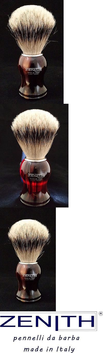 Shaving Brushes and Mugs: Zenith Plastic Tortoise Silvertip Shave Brush. 21Mm. Made In Palermo, Italy P8 -> BUY IT NOW ONLY: $48 on eBay!