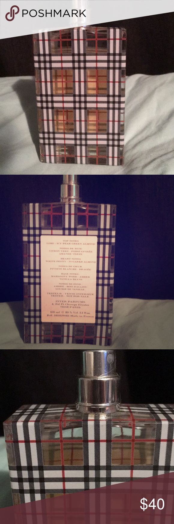 Burberry perfume Tester, almost full a full bottle Burberry Accessories