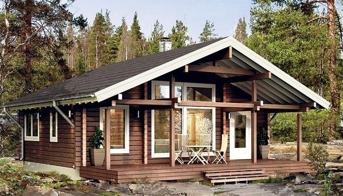 Одноэтажные финские дома из бруса с верандой: как возводится деревянная постройка