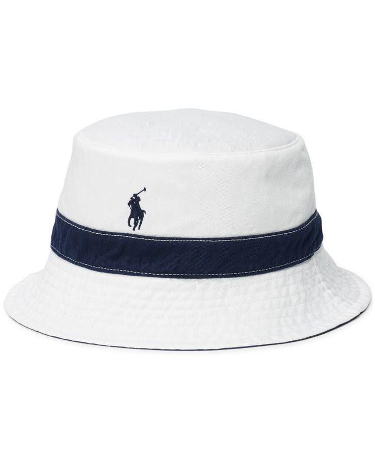 Polo Ralph Lauren Men's Polka-Dot-Print Reversible Bucket Hat