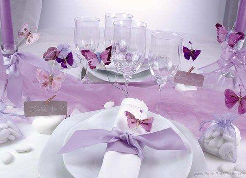 decoration salle mariage theme papillon