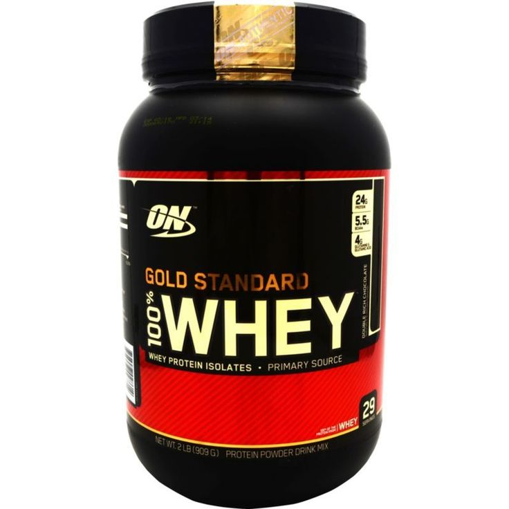 Optimum Nutrition 100% Whey Gold Standard Double Rich Chocolate (Brown) 2 lbs
