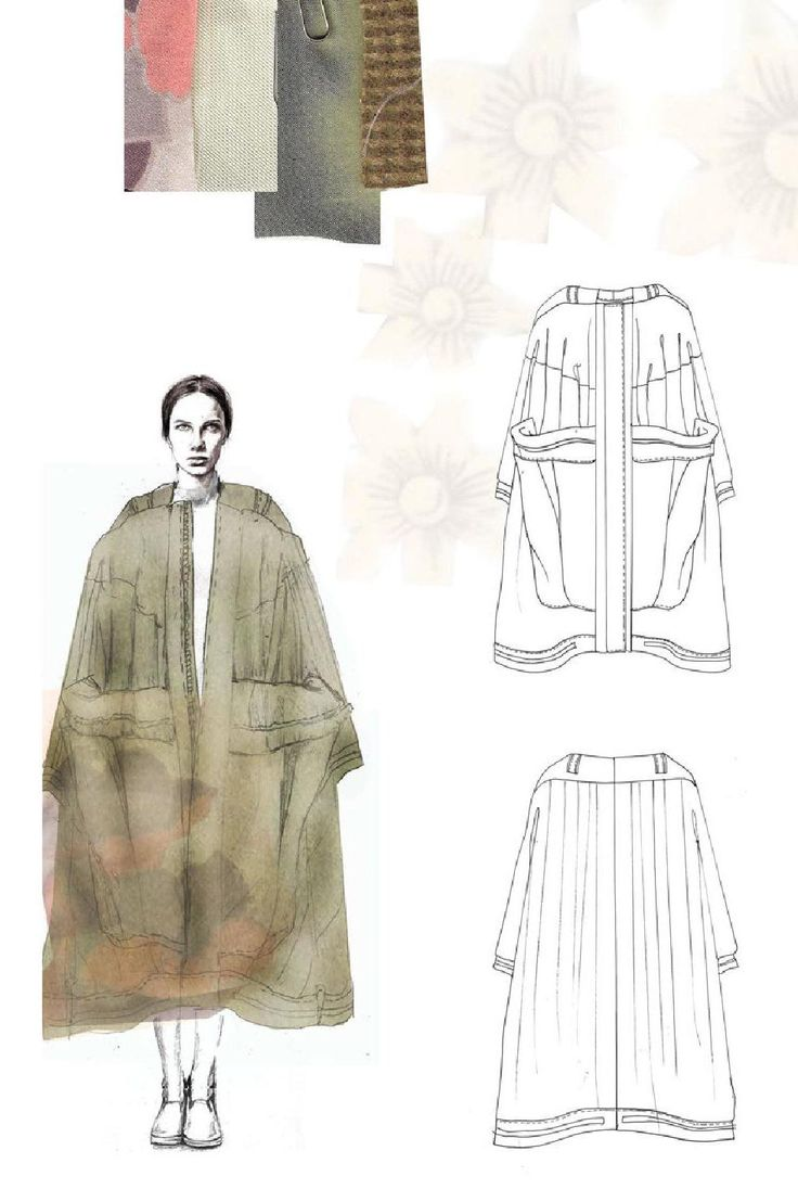 Fashion Sketchbook - fashion illustration; outwear design; fashion portfolio // Emma Berry