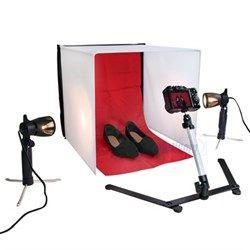 Mini Estudio Fotografico Portátil Fundo Infinito Easy PB-04 40x40 cm 110V ou 220V