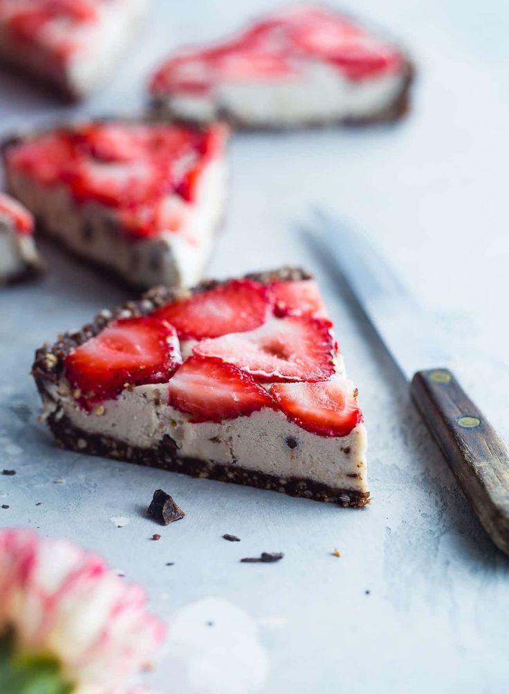 kühlschranktorte ohne backen schokolade erdbeeren joghurt – Schoko Käsekuchen…