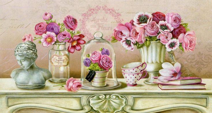 Quadro in tela cotone stile moderno quadri floreali