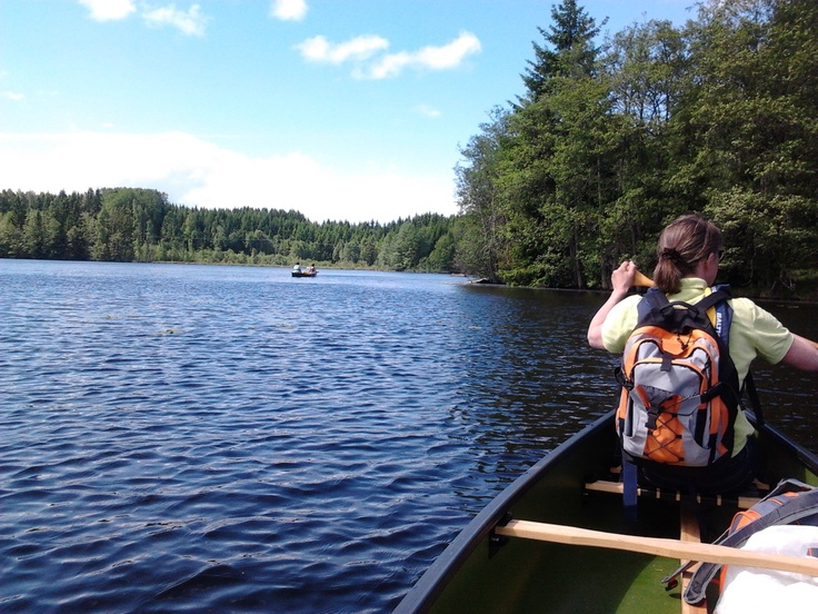 Canoes on Lake Norrsjön in Färna.