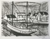 Etching and aquatint by Bernard Buffet - le port 3