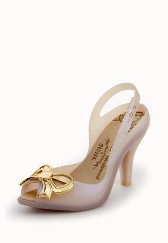 Lady Dragon with Bow Cream/Gold. Vivienne Westwood X Melissa.