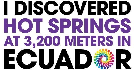 I would love to visit Ecuador