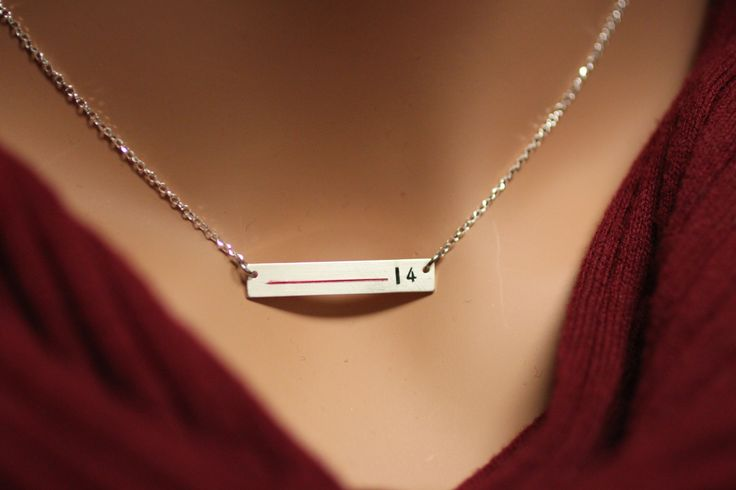 """""""Thin Red Line"""" necklace to celebrate your favorite Firefighter..."""