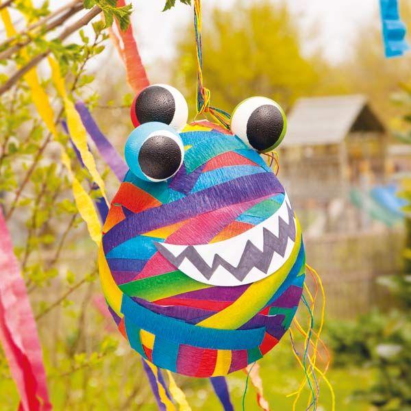 """Monster-Piñata (Idee mit Anleitung – Klick auf """"Besuchen""""!) - Das ist der Knaller auf allen Kindergeburtstagen! Selber basteln und befüllen!"""