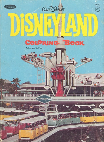 Disneyland Coloring Book - Peoplemover Cover
