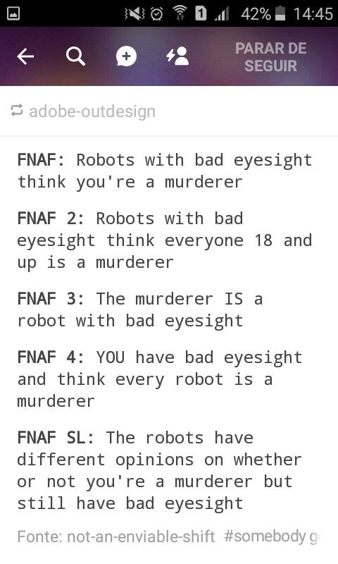 100% accurate description of the FNAF games