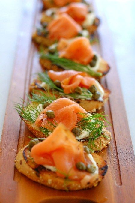 Potato Halves with Smoked Salmon and Dill images