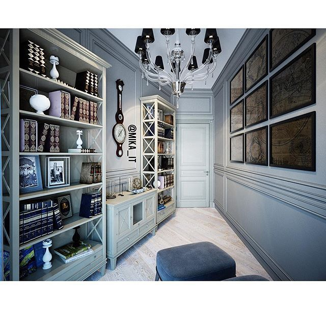 Мои домики. Небольшой кабинет-библиотека. #egorova_marina #domoff_group #domoff_interiors #domof
