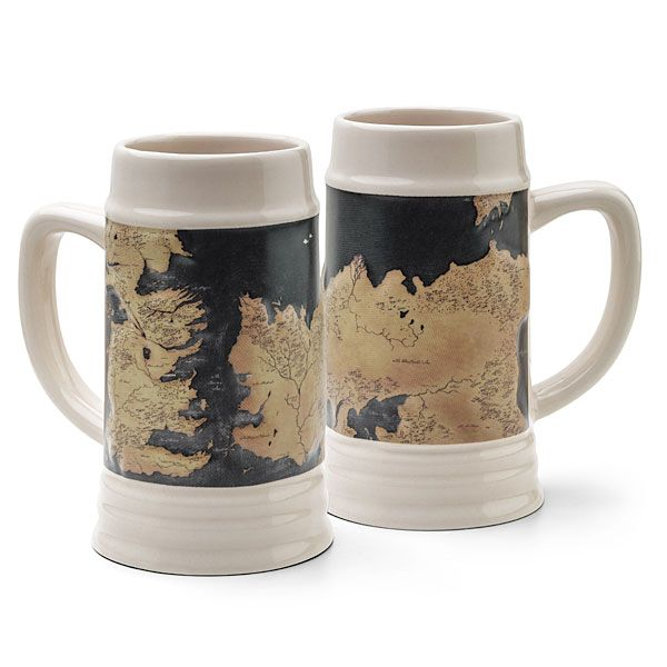 Steins, the German legacy of drinking, have always been a pretty manly way of drinking. And yet, somehow, Game of Thrones found a way to make it even better. This stein has a Game of Thrones map of Westeros, with embossed land that raises higher than the seas. It is officially-licensed Game of Thrones merchandise, …