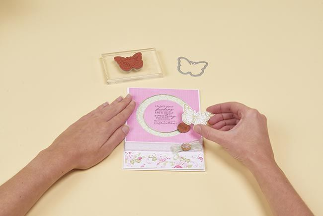 Make a beautiful whirling butterfly card of your own with for Create your own penny