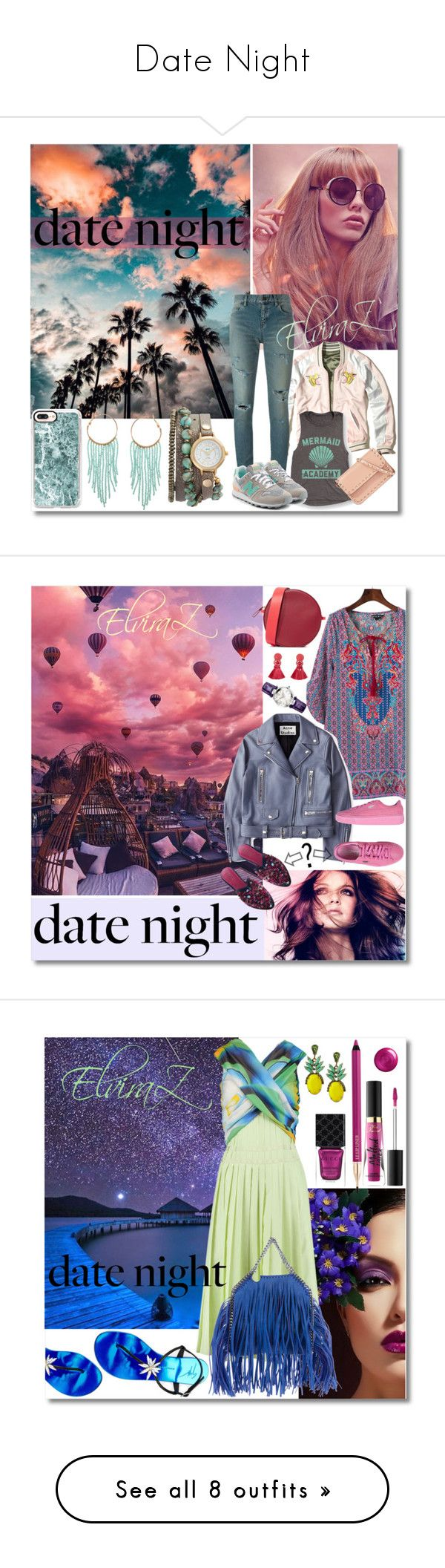 """""""Date Night"""" by elza76 ❤ liked on Polyvore featuring Hollister Co., Yves Saint Laurent, New Balance, Valentino, La Mer, Humble Chic, Casetify, Acne Studios, Puma and Diane Von Furstenberg"""