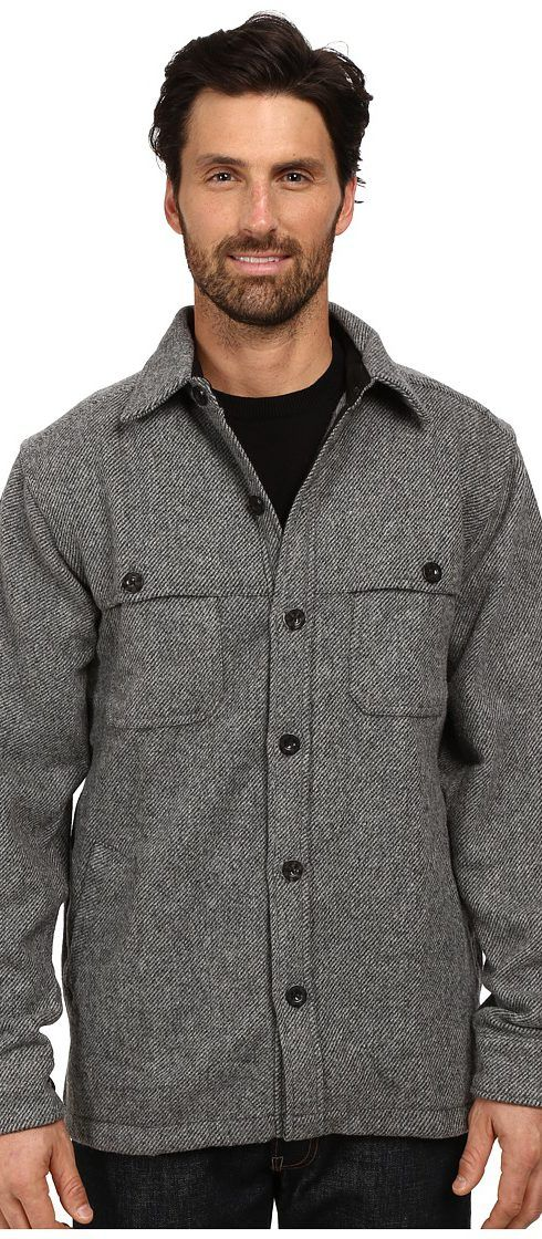 Woolrich Wool Stag Shirt Jacket (New Gray) Men's Coat - Woolrich, Wool Stag Shirt Jacket, 6138-NGY, Apparel Top Coat, Coat, Top, Apparel, Clothes Clothing, Gift, - Fashion Ideas To Inspire