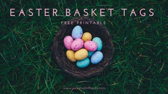 Free Printable Easter Basket Tags