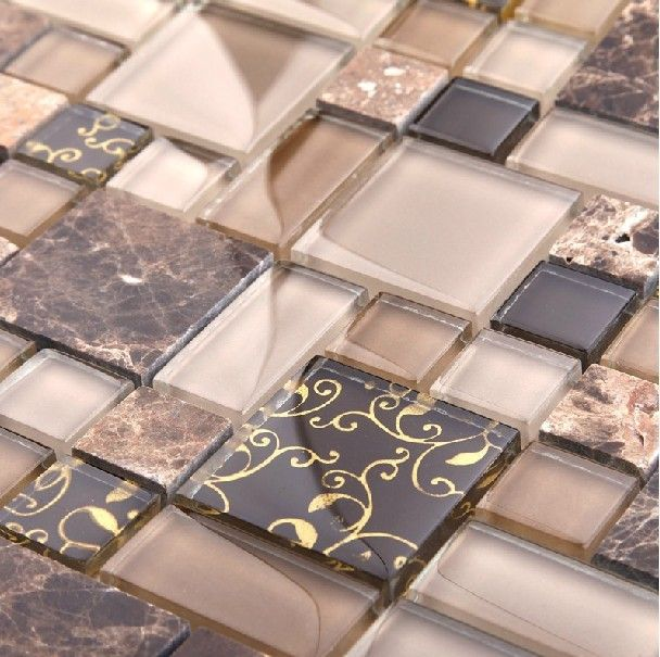 Stone marble mosaic tile glass mosaic kitchen tile backsplash SGMT058 FREE SHIPPING glass mosaic pattern wholesale glass mosaics $313.20
