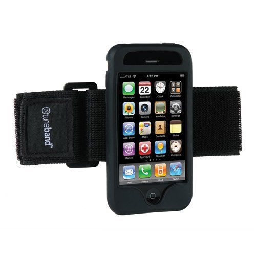 Tuneband, Grantwood Technology's Armband, Silicone Skin, and Screen Protector for iPhone 3G and iPhone 3GS, NAVY. Armband for iPhone 3G and iPhone 3GS. Includes Silicone Skin for iPhone 3G and iPhone 3GS, 8GB/16GB/32GB. Soft Stretchy Velcro Armband that Fits Both Small and Large Arms. Can Access all Ports and Camera with Skin in Place. Includes Screen Protector for iPhone 3G and new iPhone 3GS.
