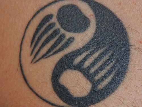 Native American clan symbols | ... tattoo of a yin and yang symbol with bear paw-prints in the center