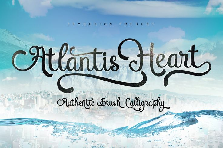 Atlantis Heart 30% Off by feydesign on @creativemarket