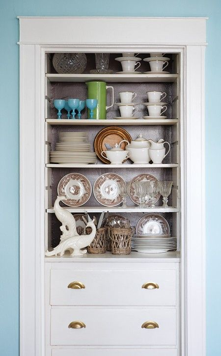 How Bout Something Like This: A Small Closet Turned Into Drawers/storage.  Filing