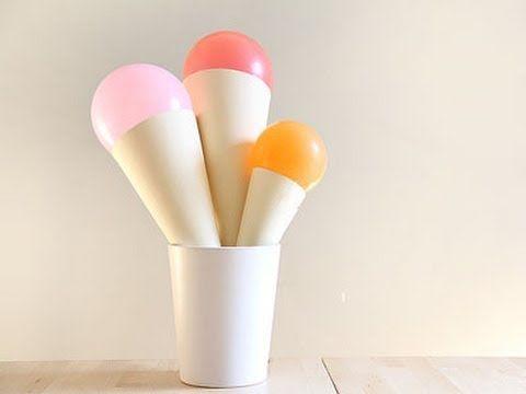 Cómo hacer globos decorativos con forma de helado  #manualidades #manualidadesparaniños #manualidadesconglobos, #charhadas #charhadastv