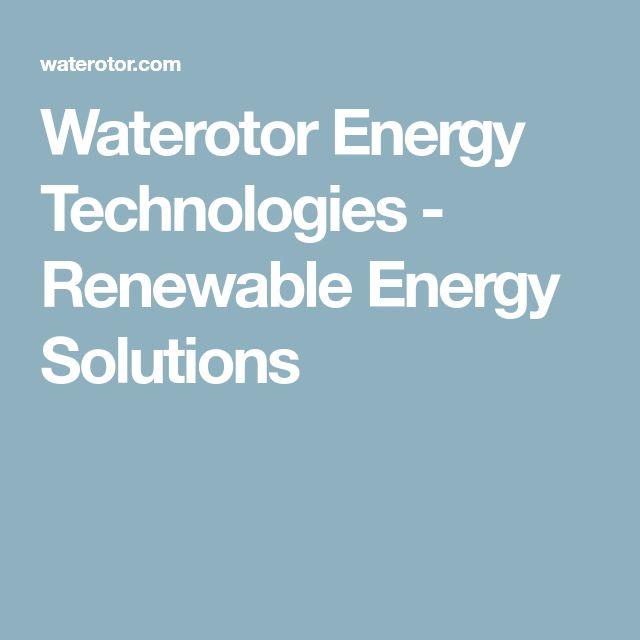 Waterotor Energy Technologies - Renewable Energy Solutions