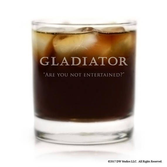 Gladiator Movie Logo with Are you not entertained