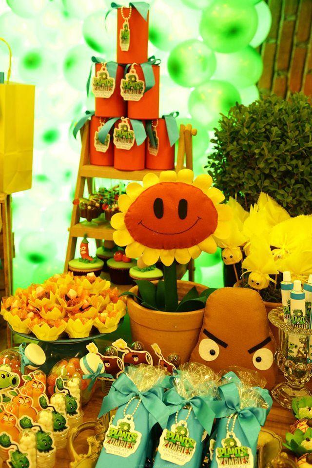 decoracao festa zumbi:Plants vs.Zombies Centerpieces