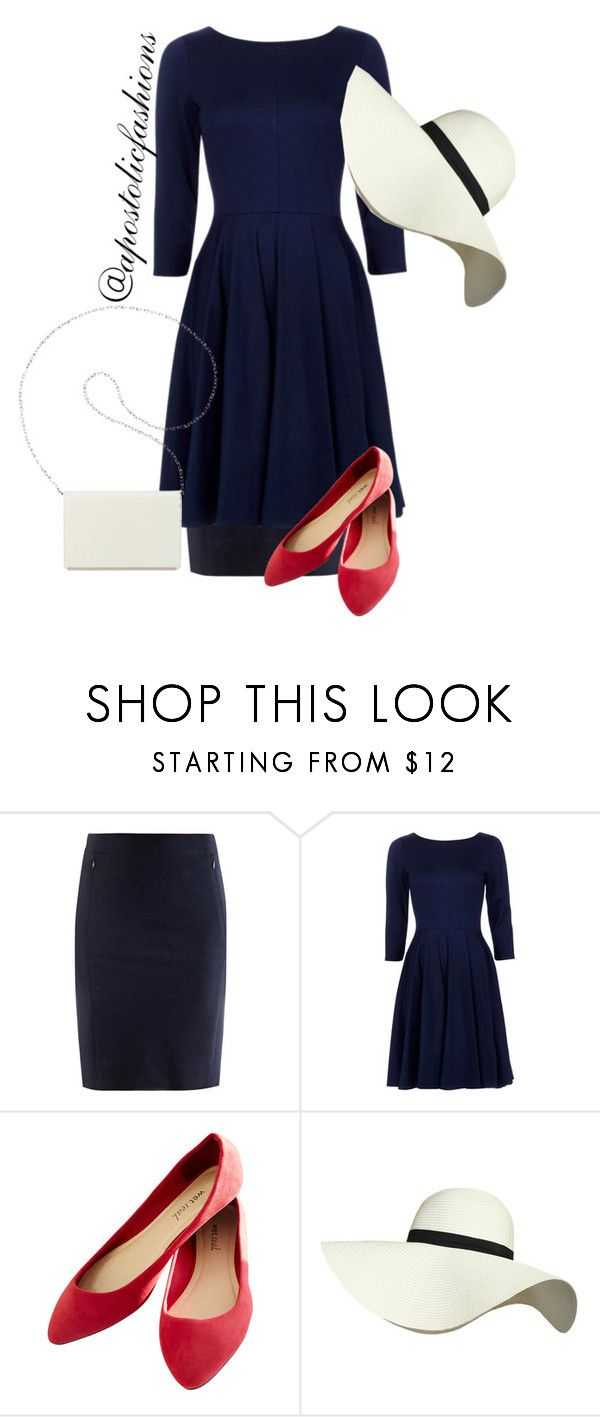 """Apostolic Fashions #1292"" by apostolicfashions ❤ liked on Polyvore featuring Diane Von Furstenberg, Wet Seal, Pilot and Nine West"