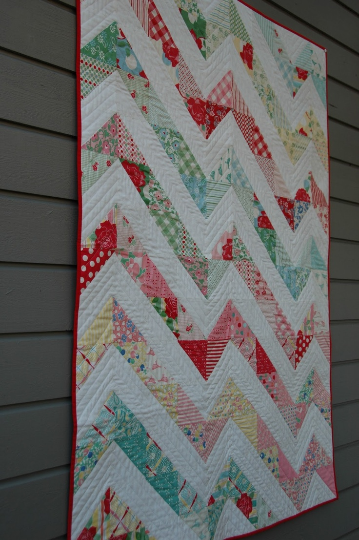 best Quilts Zig Zag images on Pinterest Patchwork quilting