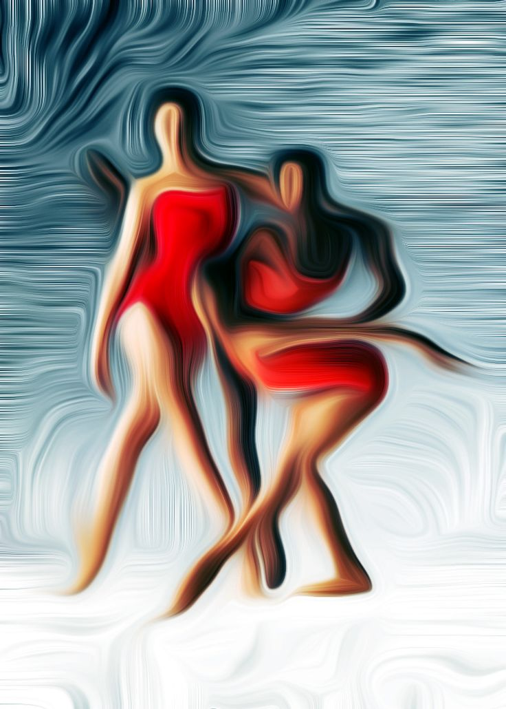 Name: Dancing Red Author: Erik Teodoru ID number: 278 Year: 2017 Software Tool: Gimp 2.8.20 / Artrage 5.0.3  Model: Unknown Original Source Image: Internet photo, Dance Theatre of Harlem Project: Feelings, Motions and Emotions