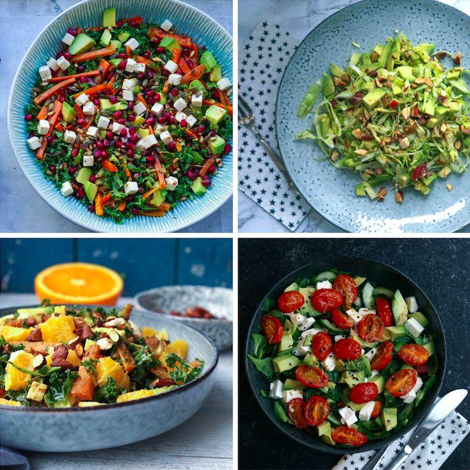 Det er nok ikke nogen nyhed at jeg er vild med salater, men det er ikke helt lige gyldigt hvordan man laver en salat. Den kan virkelig også være sørgelig og slatten, sådan én – og det er lidt en skam, når man sagtens kan få salater til at smage af en masse, til at mætte, være både salte, søde, snaskede og sprøde. Jeg har samlet mine 8 favoritter her, jeg håber du kan bruge et par af dem  Alle salaterne ville passe perfekt til kylling (f.eks. kyllingespyd, kyllingedeller eller kylling i…