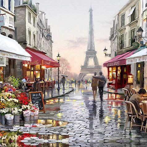 Buy MaCneil Studio - Paris Flower Shop Print on Canvas, 70 x 100cm Online at johnlewis.com