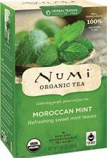 Numi Organic Tea Moroccan Mint | Organic Moroccan Mint, known as 'nana mint,' flourishes in North Africa
